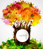 abstract strong tree forming by blots poster