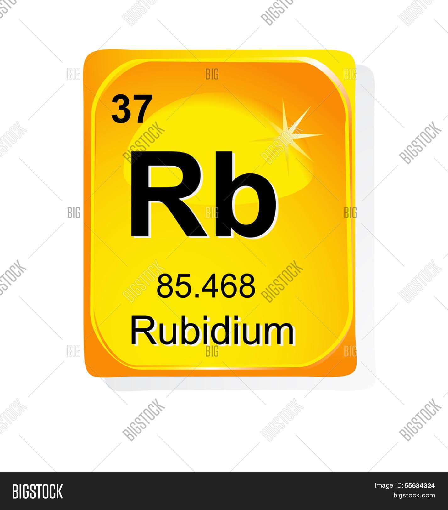 Rubidium chemical element atomic vector photo bigstock rubidium chemical element with atomic number symbol and weight buycottarizona Choice Image