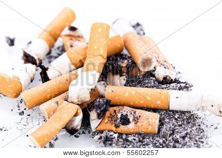 Stop Smoking Cigarettes Isolated