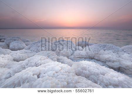 Salt Rock In Dead Sea, Jordan