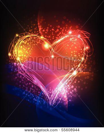 neon valentine's background