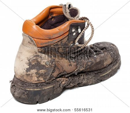 Old Dirty Trekking Boot