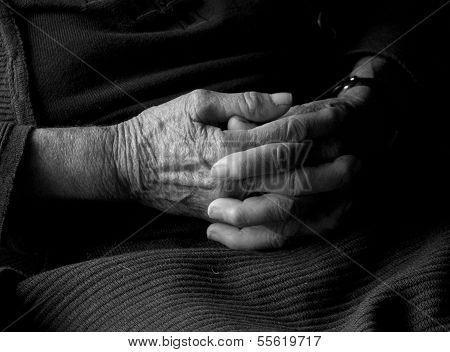 Senior Womans  Hands