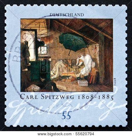 Postage Stamp Germany 1979 The Poor Poet, By Carl Spitzweg