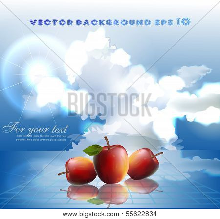 Cloud collection Fresh apples