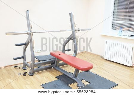 Gym apparatus in a gym hall poster