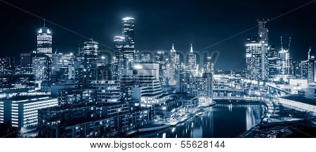 The beautiful city of Melbourne at night