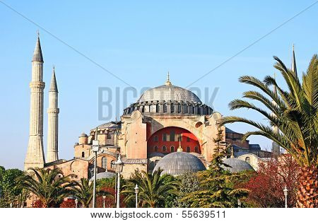 Haghia (Aya) Sophia - famous church and mosque in Istanbul poster