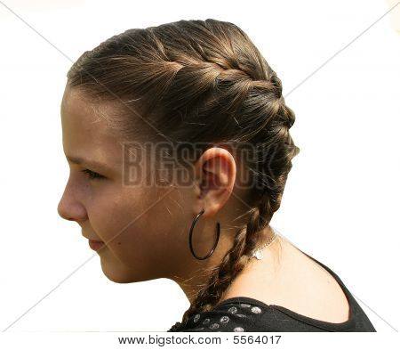 Young Girl With French Braids