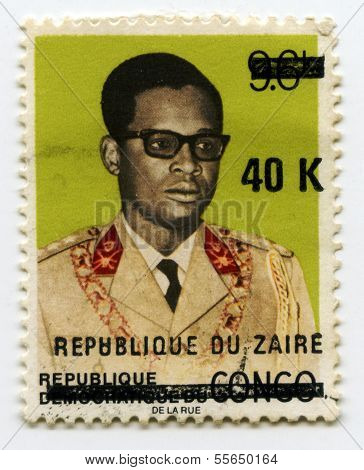 Stamp from Zaire