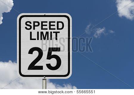 Speed Limit 25 Sign