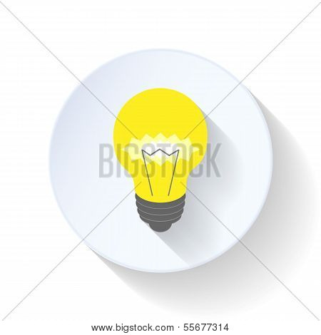 Electric light bulb flat icon