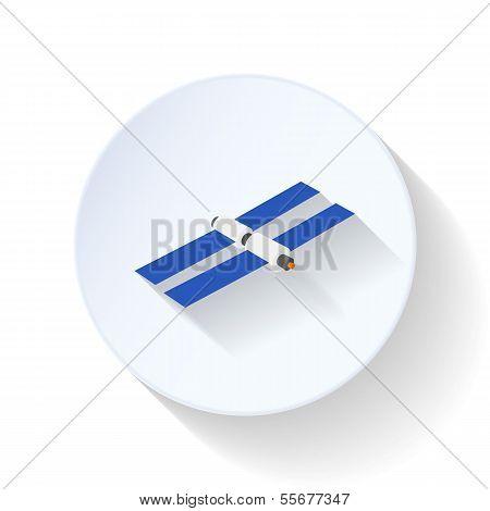 Satellite flat icon