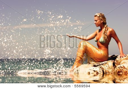Mermaid At Beach