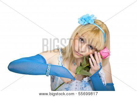 Träumen Mädchen mit rose