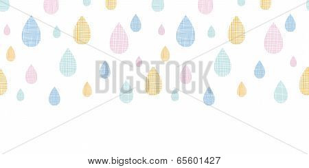 vector abstract textile colorful rain drops horizontal seamless pattern background poster