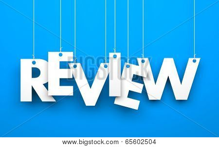 Review. Text on the string