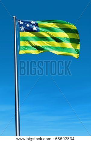 Goias (brazil) Flag Waving On The Wind
