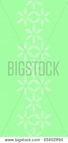 vector abstract textile mint green leaves geometric vertical seamless pattern background poster
