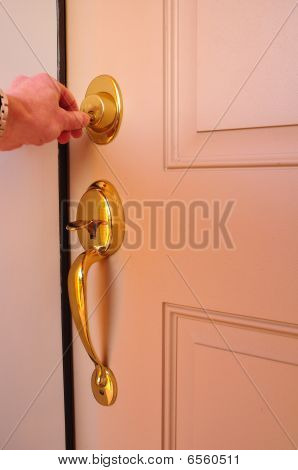 Locking A Dead Bolt