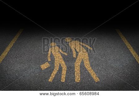 Big bully and bullying concept as yellow painted road sign on asphalt. poster