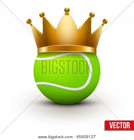 Tennis ball with royal crown