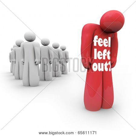 Feel Left Out words sad alone isolated person outcast