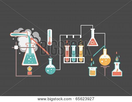 Medical laboratory infographics