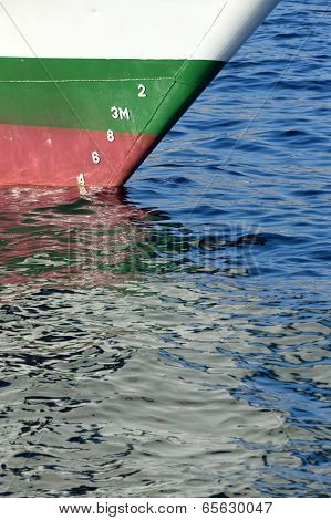 An Istanbul Abstract, Reflection Of A Passenger Boat On The Sea
