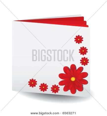 Red book with flowers