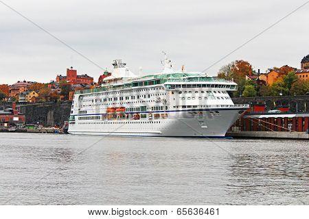 Ferry In Stockholm, Sweden