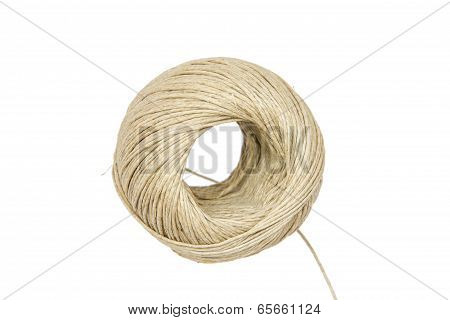 A Ball Of String Isolated On White Background
