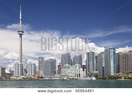 City at the waterfront, CN Tower, Lake Ontario, Toronto, Ontario, Canada