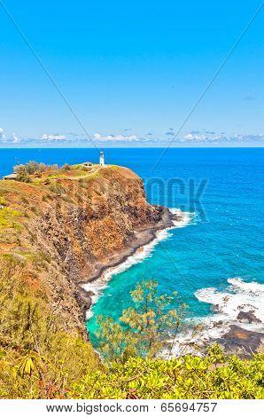Kilauea lighthouse in Kauai island