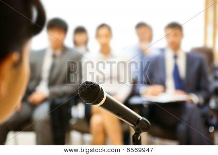 During Speech