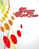 abstract background with new year background. Vector illustration poster