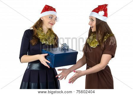 Photo of two women with the gift