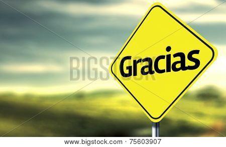 Thank You (Spanish: Gracias) creative Sign
