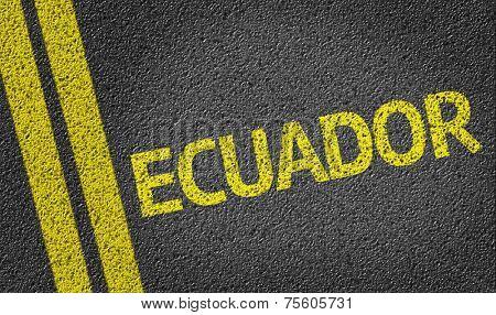 Ecuador written on the road