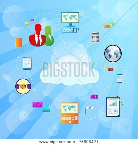Cloud internet connection icon Vector Illustration