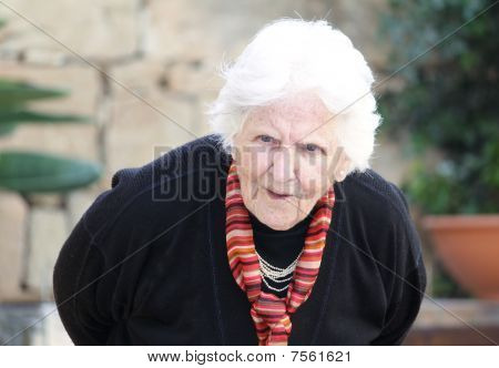 Hunch Back Old Woman