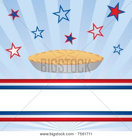 Patriotic Apple Pie with Banner