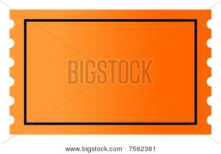 Blank Orange Ticket