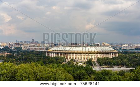 View Of Luzhniki Sport Complex In Moscow