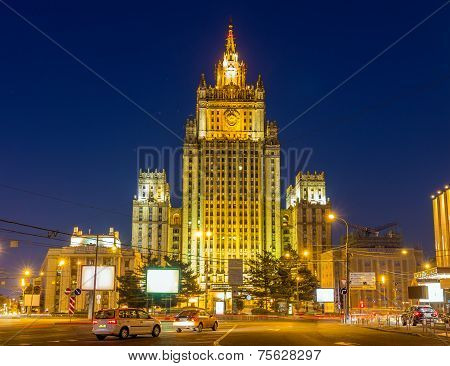 Ministry of Foreign Affairs in Moscow - Russia poster