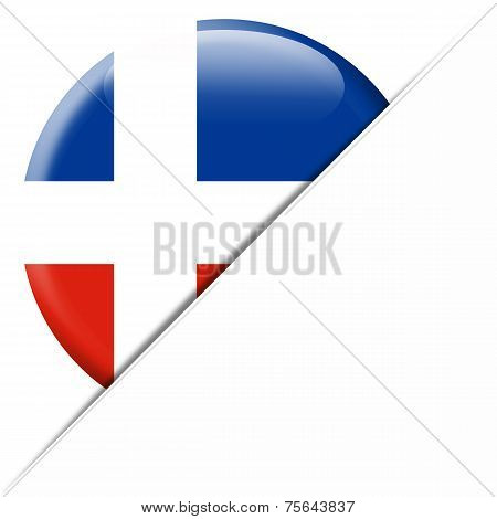 Dominican Republic Pocket Flag