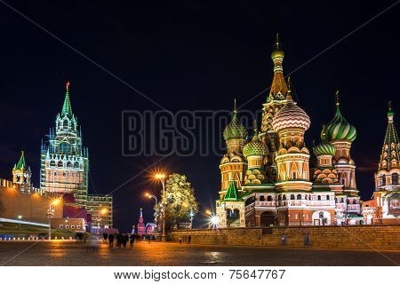 Red Square At The Evening, Moscow, Russia