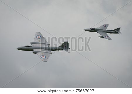 Canberra And Hunter Aircraft