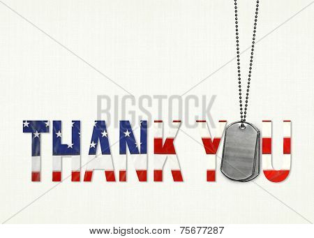 thank you dog tags