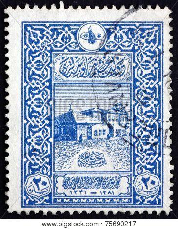 Postage Stamp Turkey 1916 Old General Post Office, Constantinopl